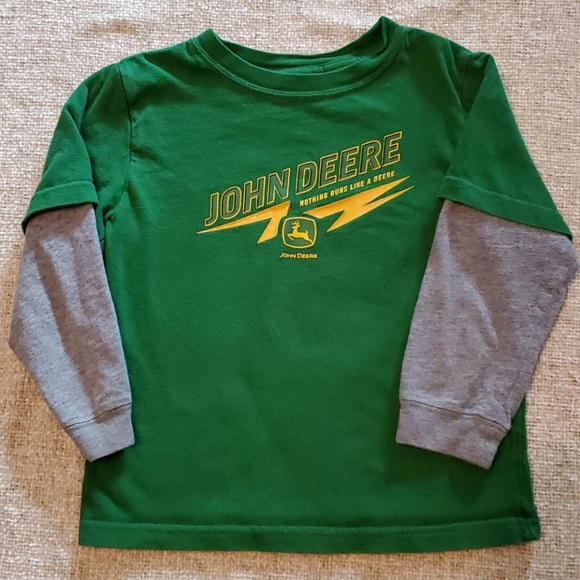 John Deere Other - John Deere Green long sleeve boys 4T